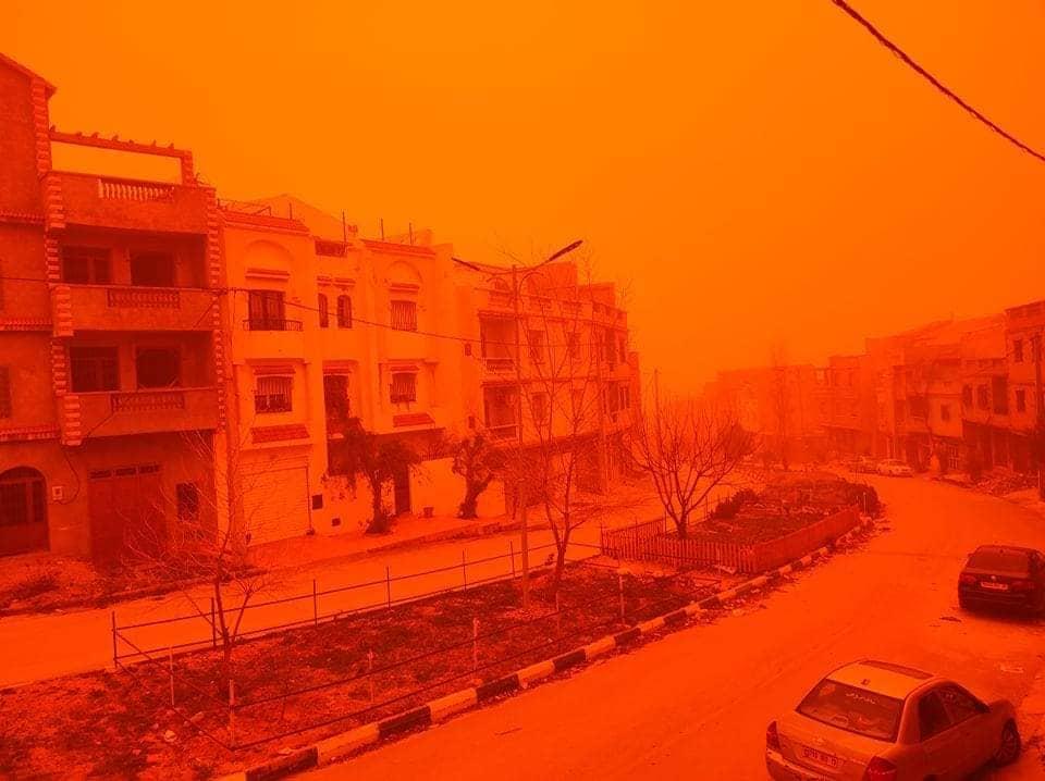 Erős homokvihar Algériában! 1