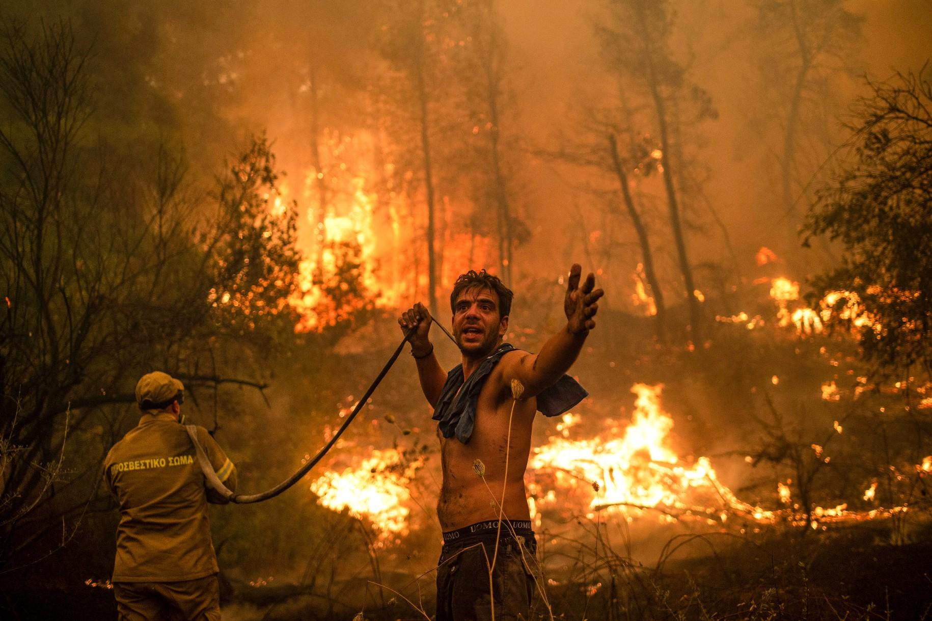 """Görögország: """"Élve fogunk elégni""""! Apokaliptikus állapotok, forróság! 5"""