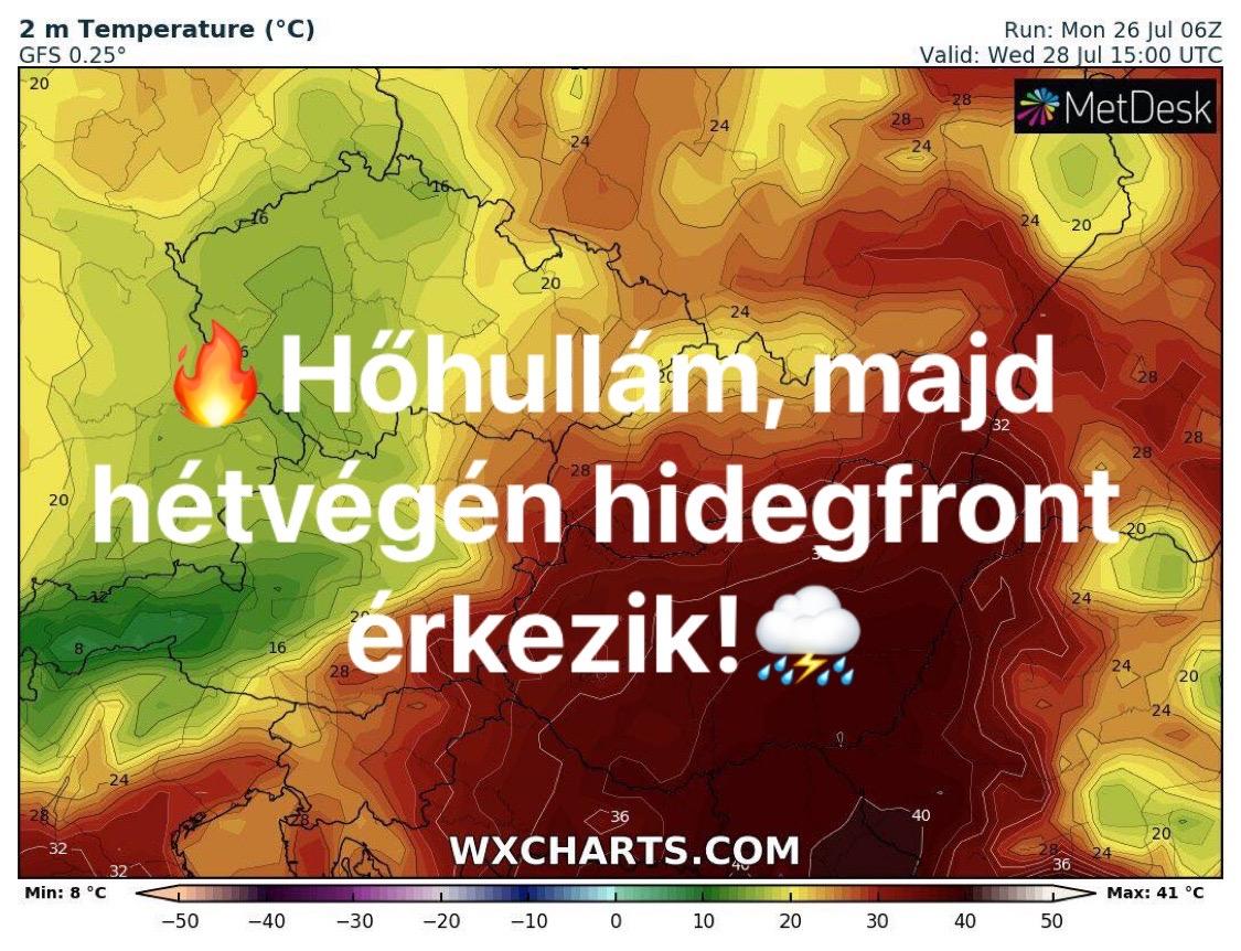 Hosszútávú előrejelzés: fokozódó hőhullám, majd hidegfront érkezik! 5
