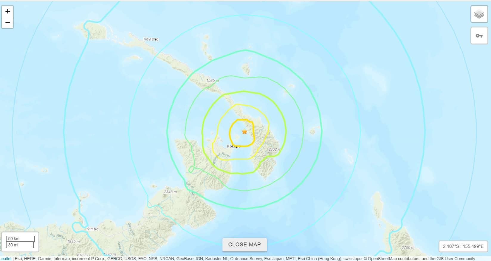 Földrengés volt Pápua-Újguinea mellett! 9
