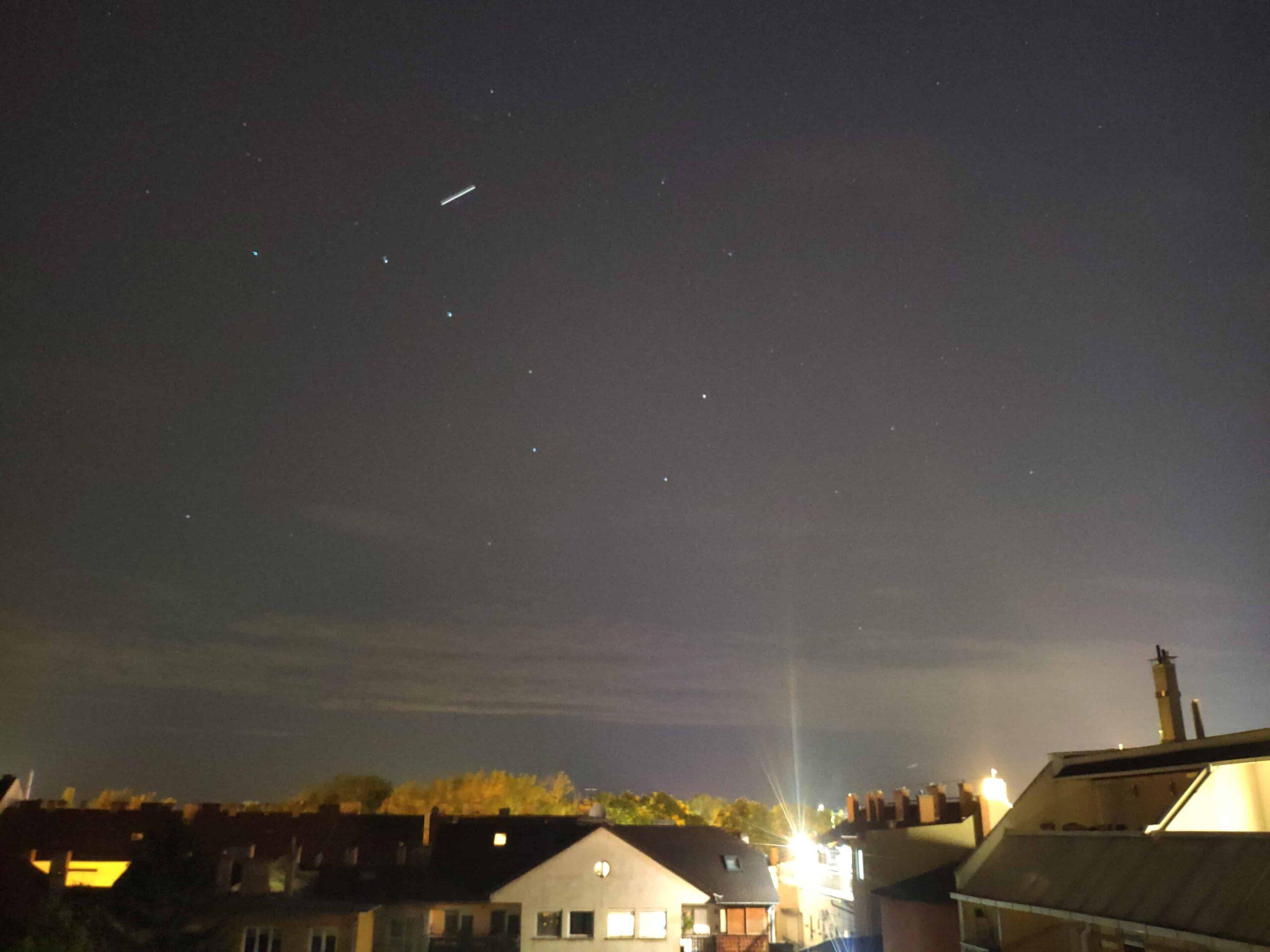 Nemzetközi Űrállomás átvonulása a Nagy Medve csillagképben 1
