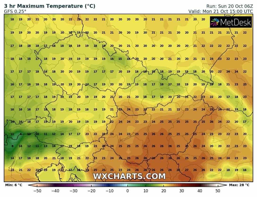 Hétfőn melegrekordok dőlhetnek... 2