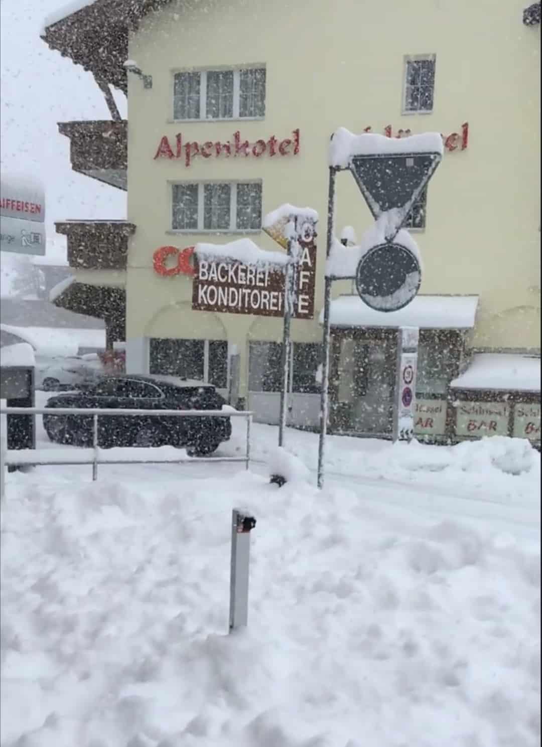 Gyönyörű havas jelenet Svájcból! (videó) 1