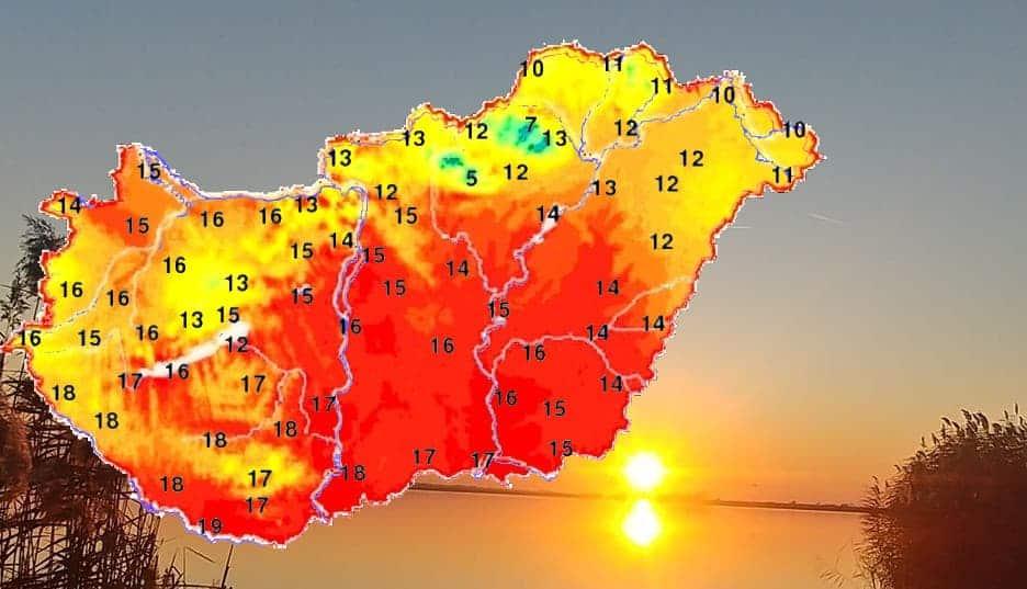 Tartósan tavaszias napok, kedden néhol 18 fok köré is melegedhet a levegő