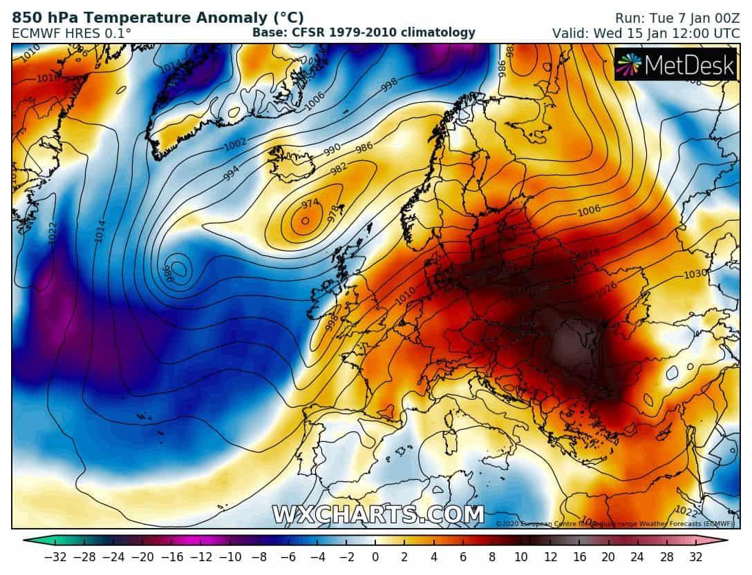 2020 januárja is jóval melegebb lehet az átlagosnál Európa nagy részén