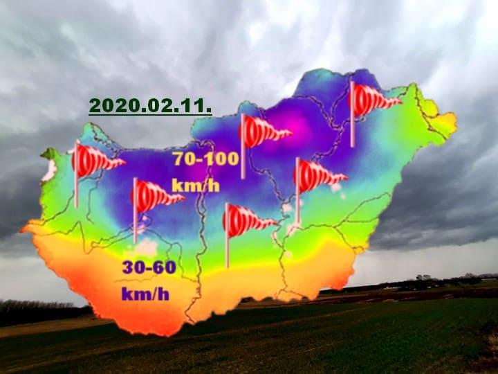 Kékestető hozta az újabb napi szélrekordot: 118 km/h!