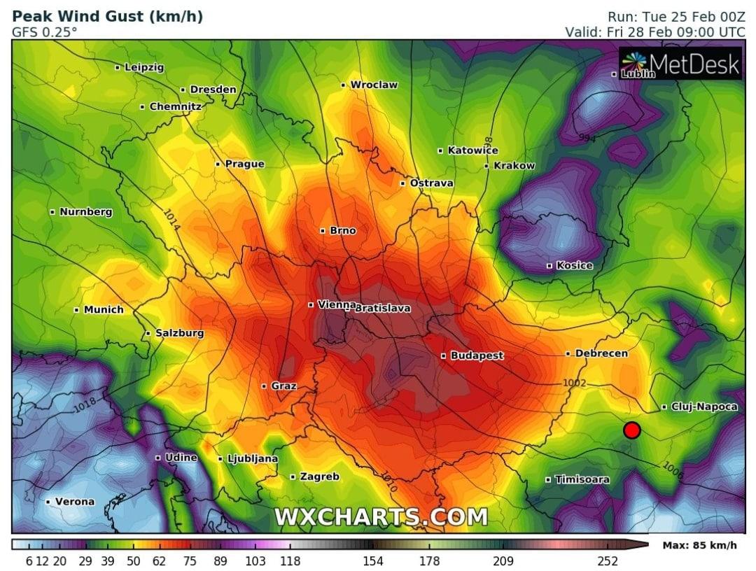 Pénteken újabb szélvihar érkezik!