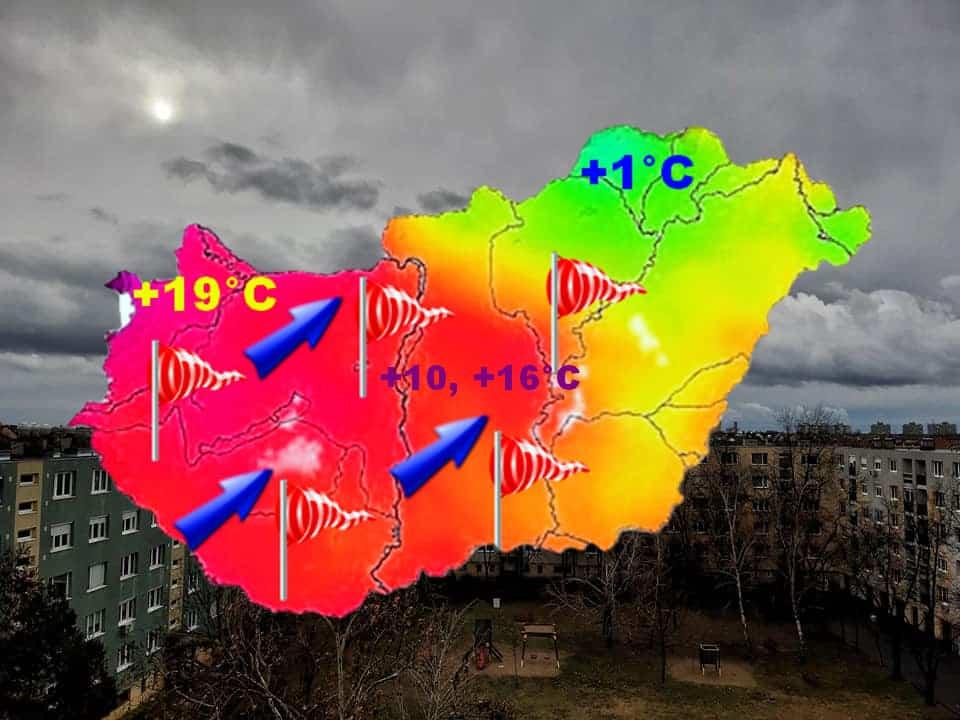 Sopron környéke közelíti a 20 fokot!
