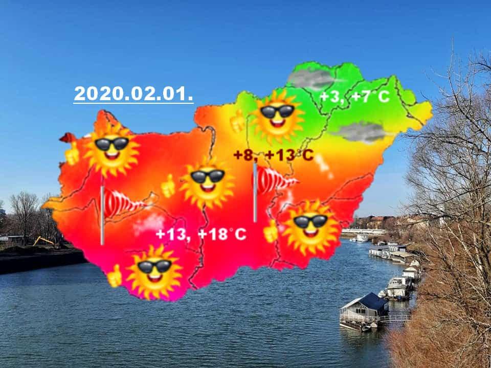 Ragyogó napsütés az ország nagy részén, +12, +16 fok között már most a hőmérséklet
