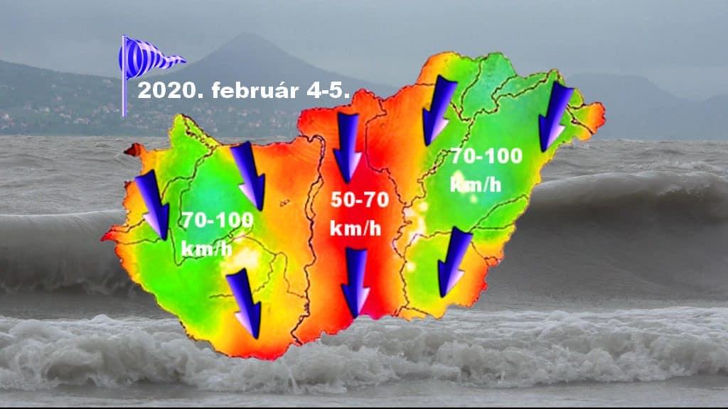 Viharos, helyenként orkán erejű északi széllel tör be a hideg szerdára, zivatar és hózápor is lehet!