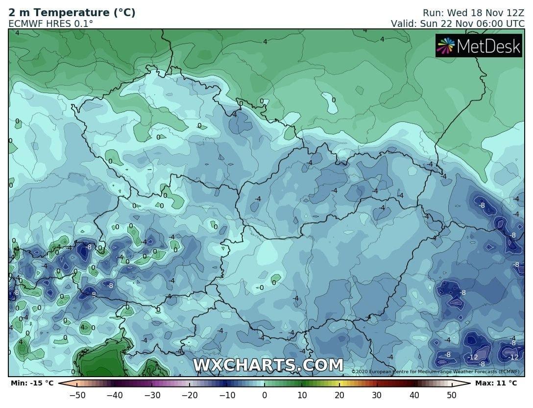 Hétvégén országos fagyok, néhol - -10 fok, hózáporok, hegyekben akár havazás! 6