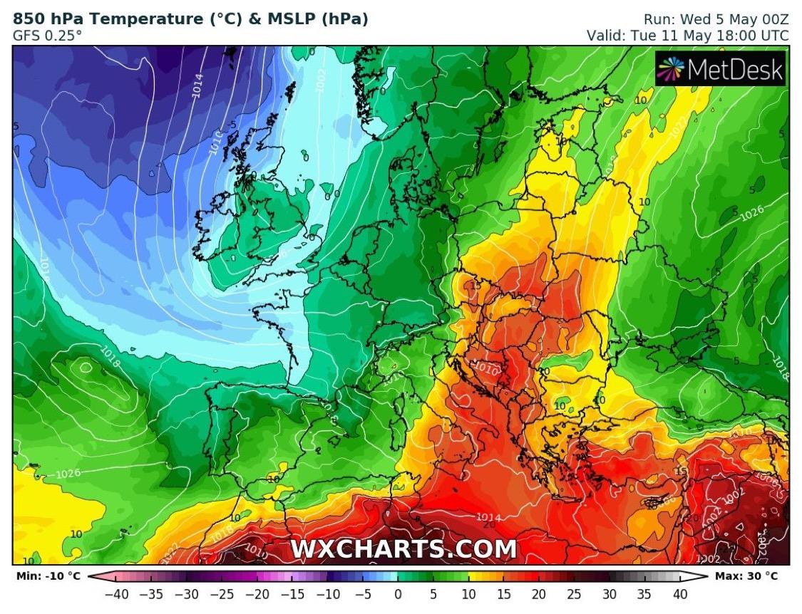 Hétvégétől melegedés, érkezik a nyárias idő -> 30 fok is lehet! 10