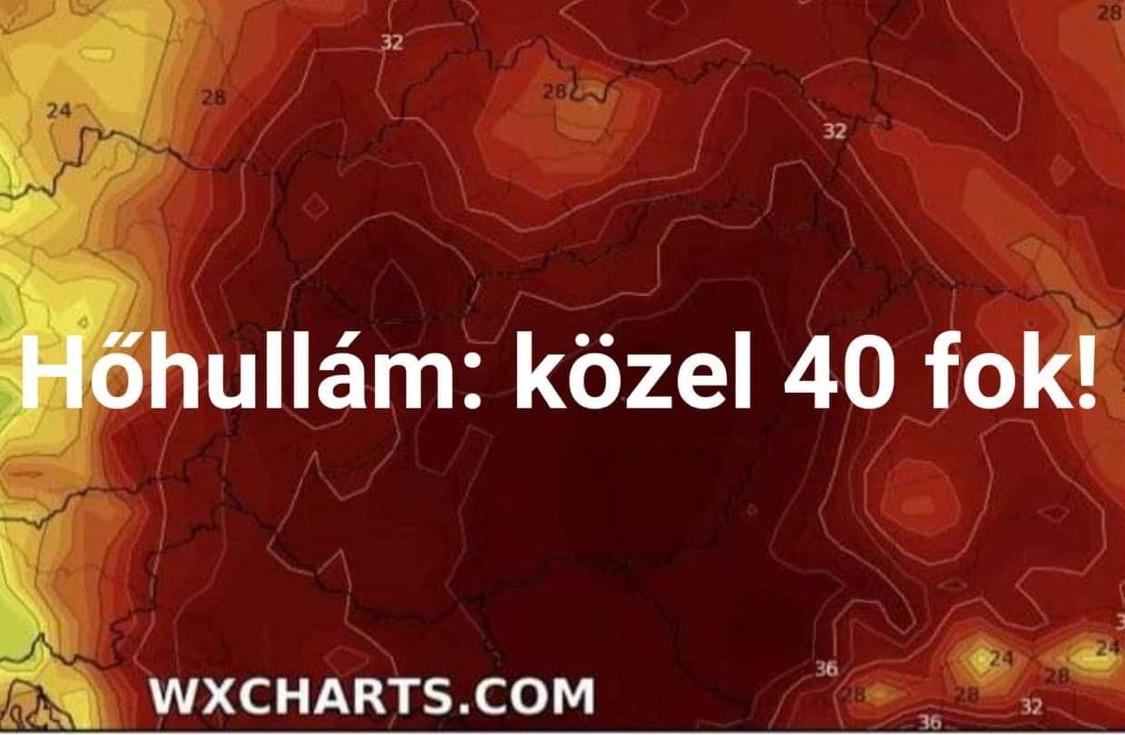 Hosszútávú előrejelzés: hőhullám, majd hidegfront heves zivatarokkal! 10