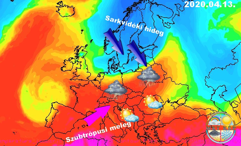 Húsvéthétfőn tetőzik a meleg, 25-26 fok is lehet, majd keddre markáns hidegfront 1