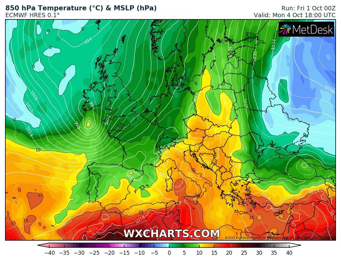120-130km/h-s orkánnal viharciklonok csapnak le Európára! 4