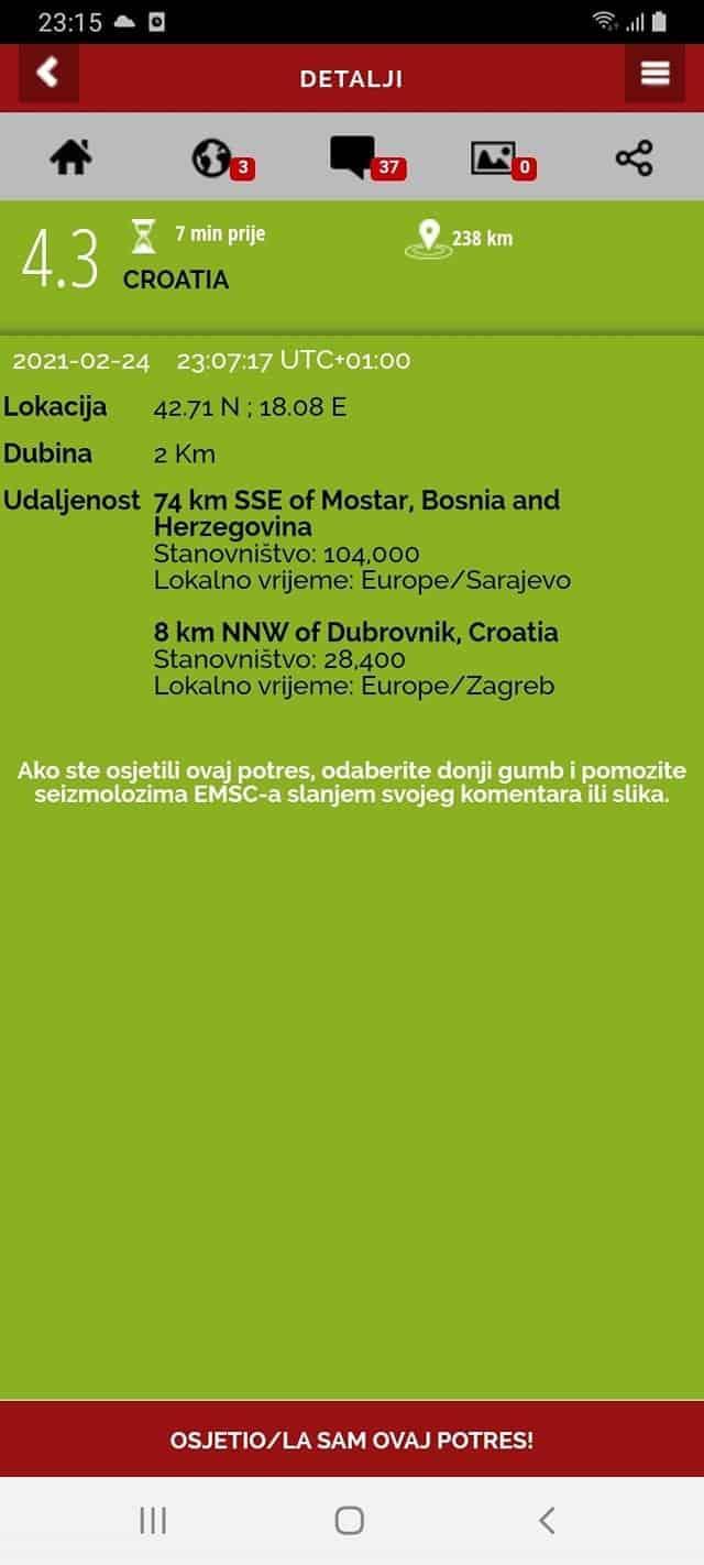 Földrengés Horvátországban! 2