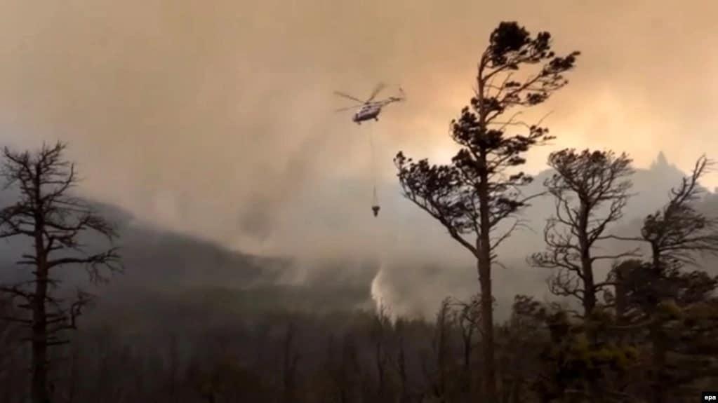 Hatalmas erdőtűz veszélyezteti Vlagyivosztokot! 1
