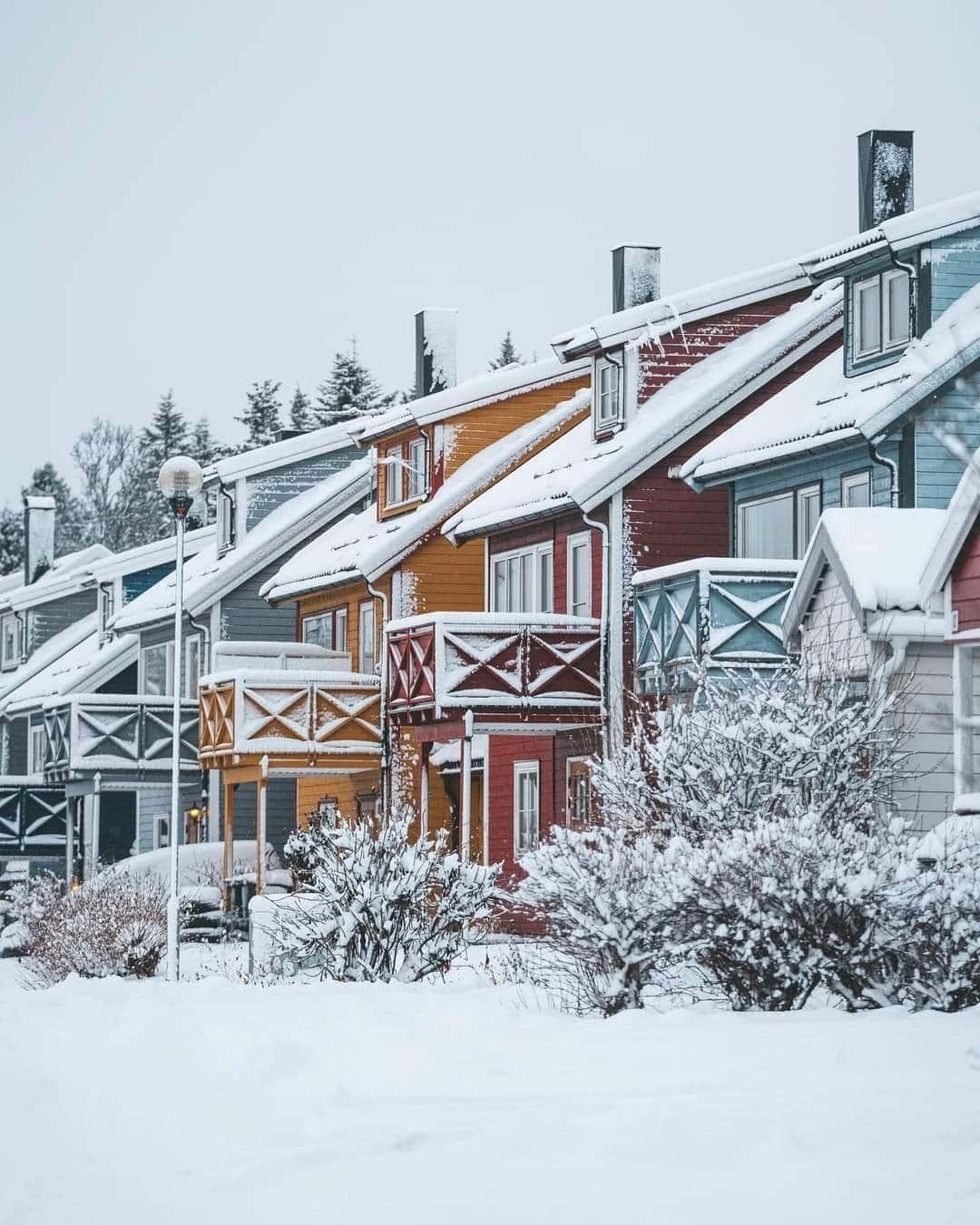 Varázslatos mai havas képek, videó Norvégiából! 4