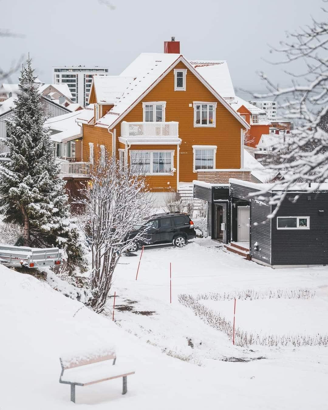 Varázslatos mai havas képek, videó Norvégiából! 5