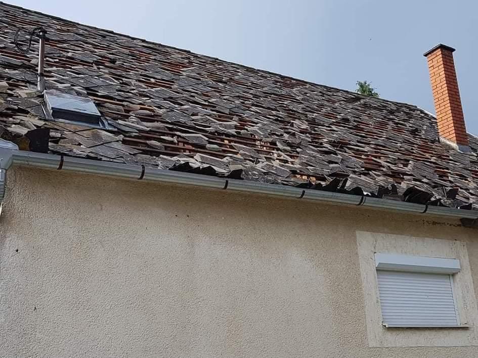 Ítéletidő csapott le Magyarországra, Sellyén 245 házban keletkezett kár! 4