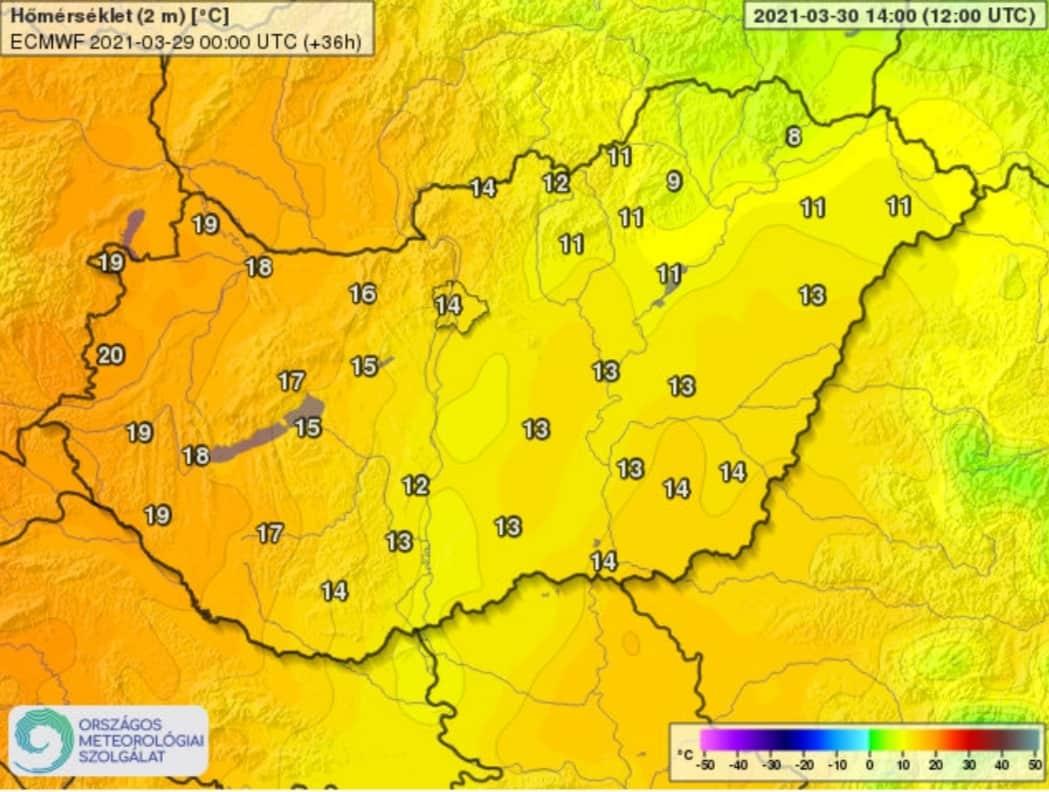 Csütörtökig: melegedés, akár 24 fok, majd markáns hidegfront érkezik lehűléssel, zivatarokkal! 2