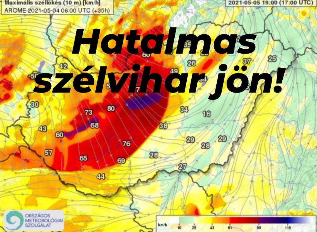 Holnap: hatalmas szélviharral tör ránk a hidegfront, de még 25 fok is lehet! 7