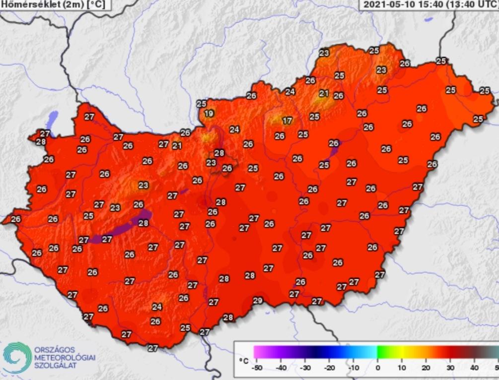 Nyári nap az országban: délen közel 30 fok van! 2