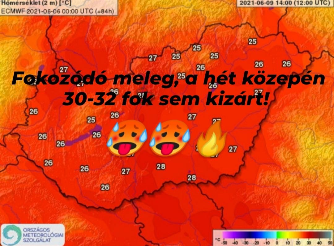 Hőség: fokozatos melegedés, a hét közepén 30-32 fok is lehet! 🥵 9