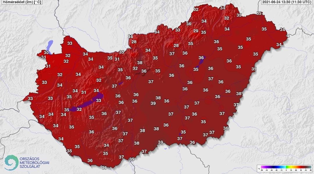 Rendkívüli hőség: délen közel 40 fokot mutatnak a hőmérők! 9