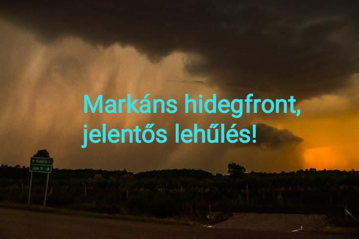 Érkezik a markáns hidegfront: jelentős lehűlés, esős, borongós idő! 2