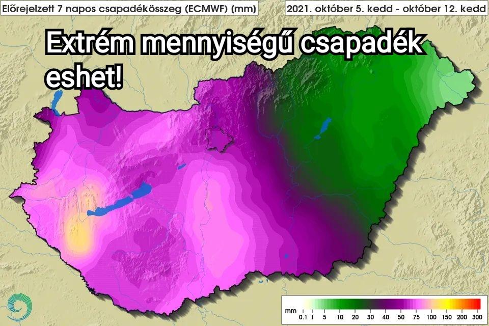 Hidegfront, ciklon: EXTRÉM (80-120mm) mennyiségű eső is hullhat!! 6