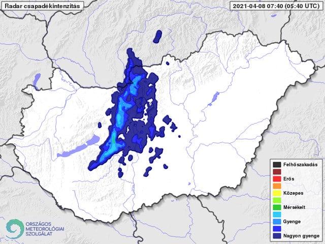 Egyre inkább a Duna-Tisza közére szorul a havazás, főváros még kaphat újabb adagot! 2