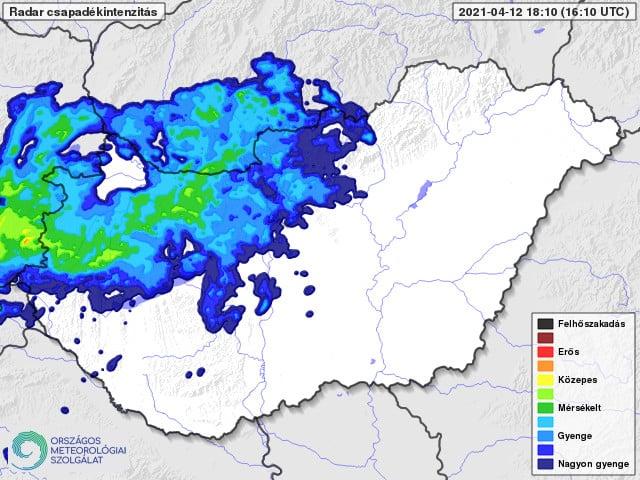 Tör be a hideg: rövidesen havazásba vált nyugat felől az eső! 3