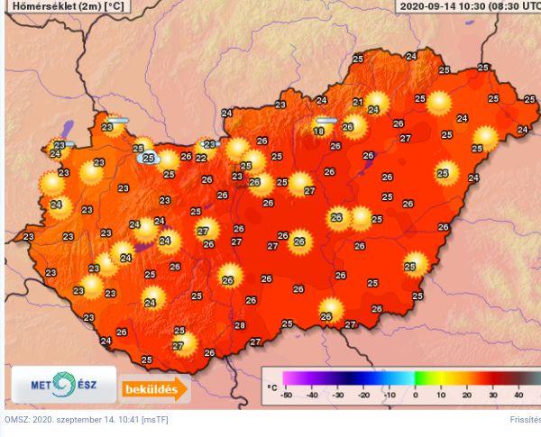 Várhatóan ma lesz az idei őszi szezon eddigi legmelegebb napja❗ 2