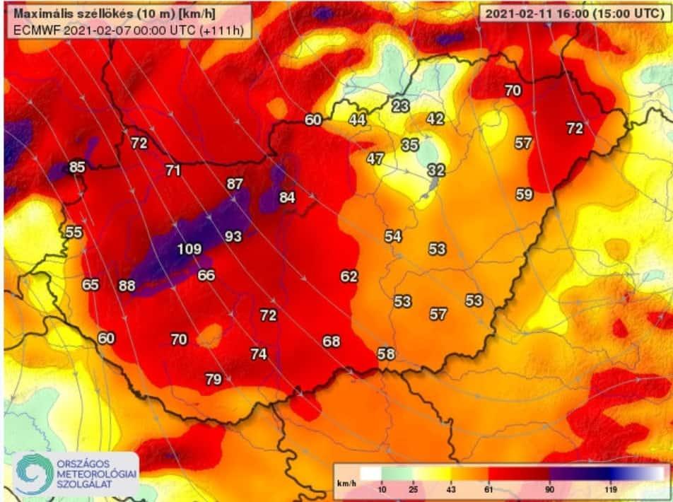 Havazás 110km/h-s szél -20 fok