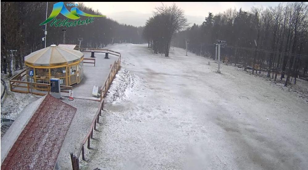 Szakad a hó, graupel Kékestetőn!(Élő videó) 9