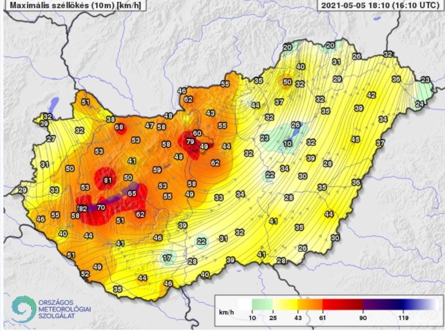 Szélvihar csapott le Budapestre, károkat okoz a vihar! 2