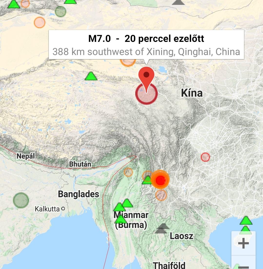Földrengés Kína