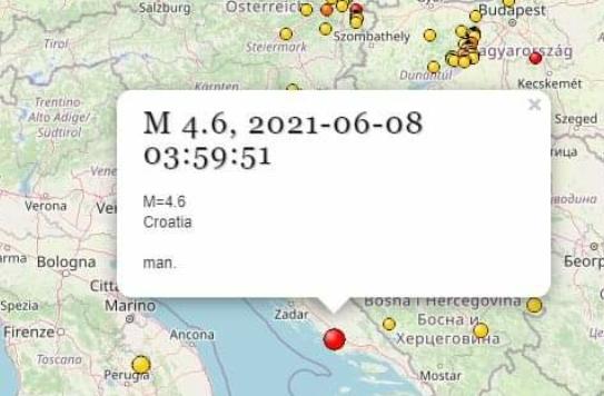 Földrengés Horvátország