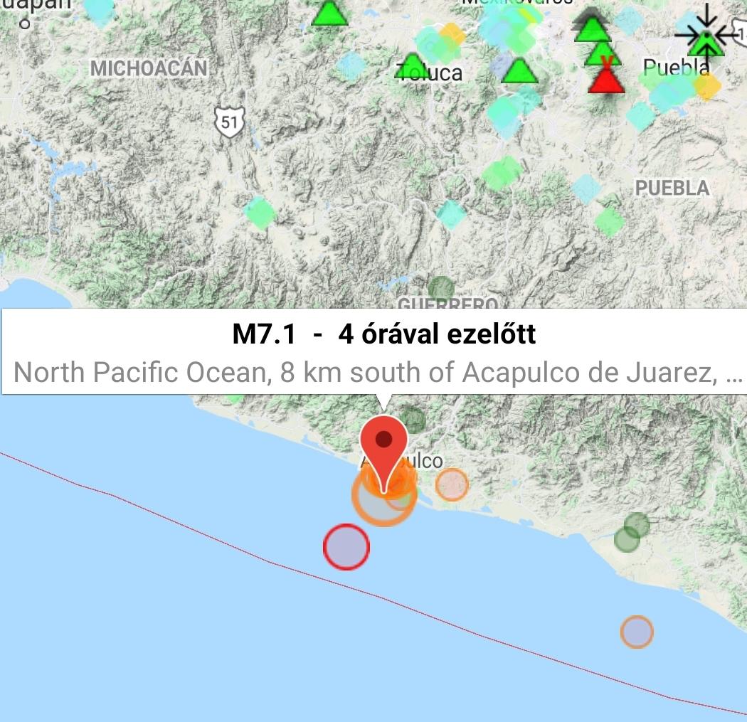 Földrengés Mexikó