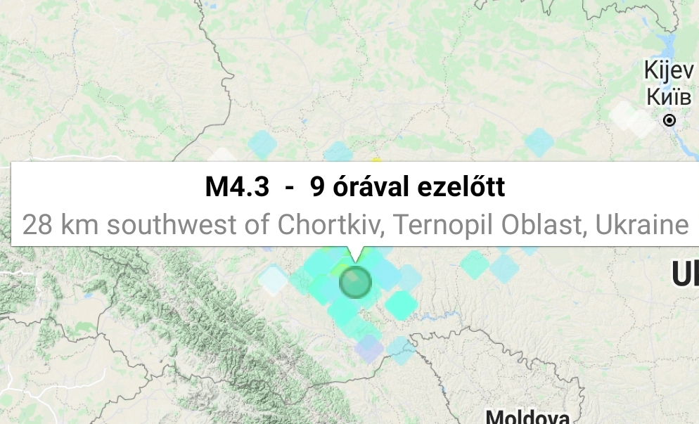Földrengés ukrajna