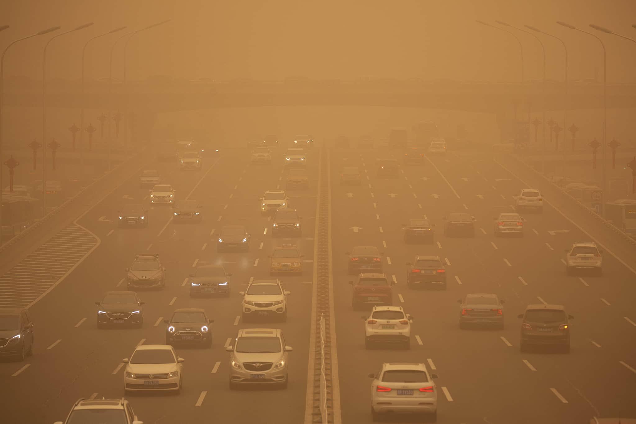 Erős homokvihar lepte el Pekinget 9