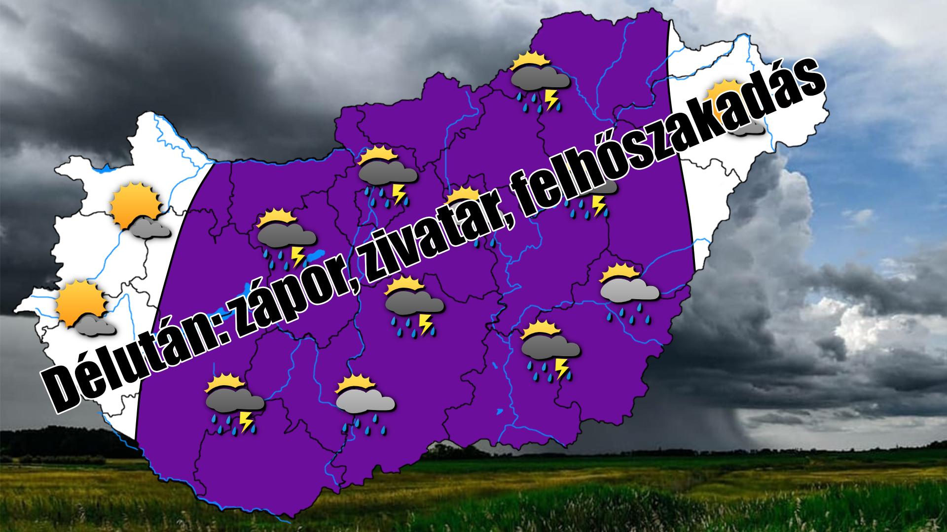 Ma délután: Záporok, zivatarok, felhőszakadás, jégeső! 8