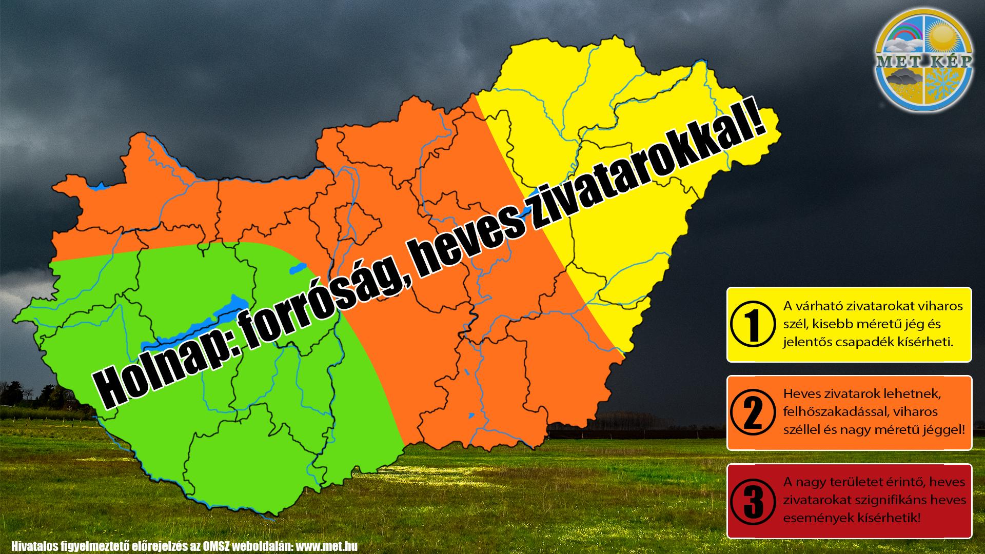 Figyelmeztető előrejelzés: heves zivatarok, jégeső, szélvihar! 3