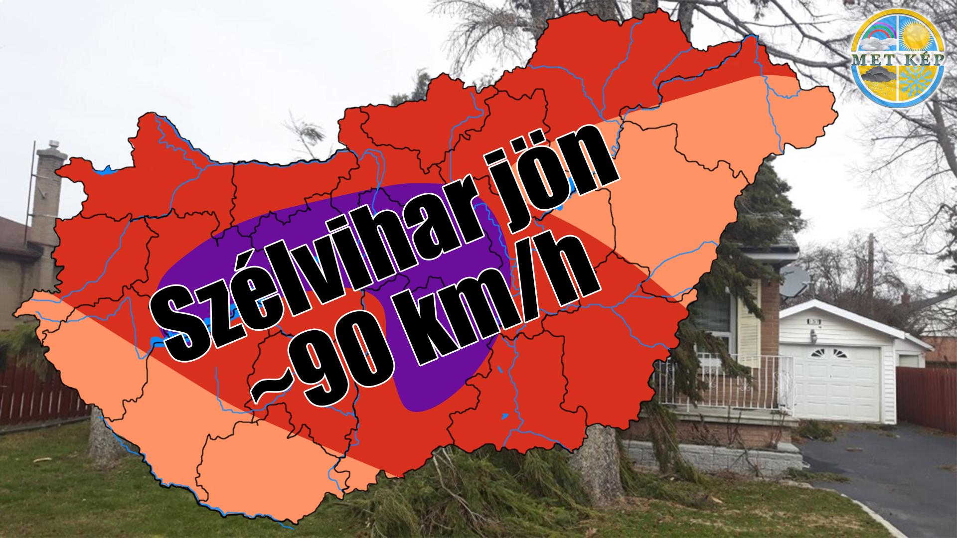Holnap: 85-90km/h-s szélviharral tör be a hidegfront! 6