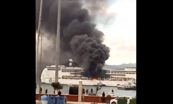 Kigyulladt egy óceánjáró Korfun! (VIDEÓ) 5