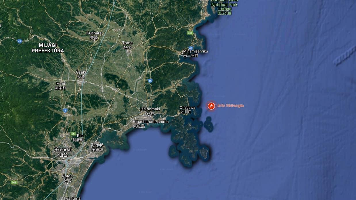 Erős, 7,2-es erejű földrengés rázta meg Japánt!