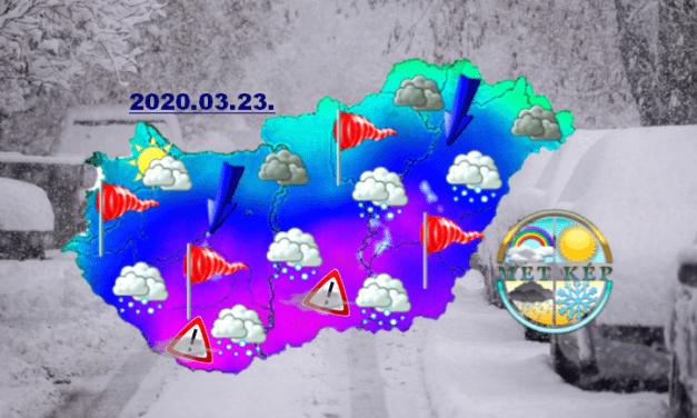 Jövő hét elején Dél-Magyarországon havazás, viharos szél-> HÓFÚVÁS VESZÉLY!