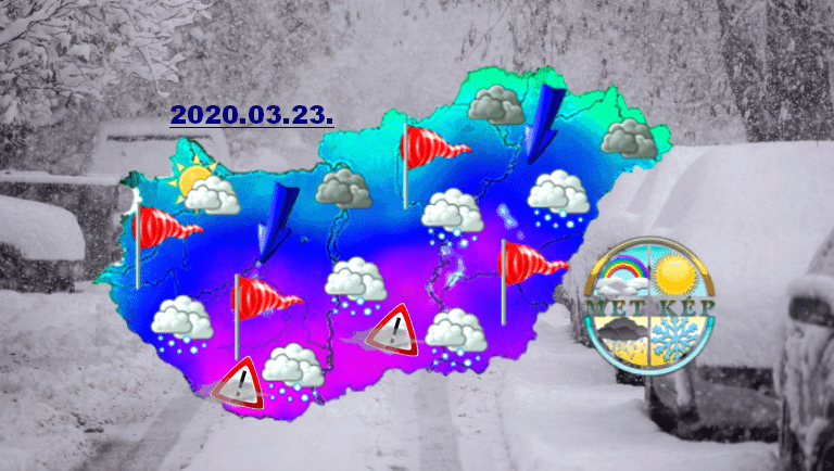 Jövő hét elején Dél-Magyarországon havazás, viharos szél-> HÓFÚVÁS VESZÉLY! 9