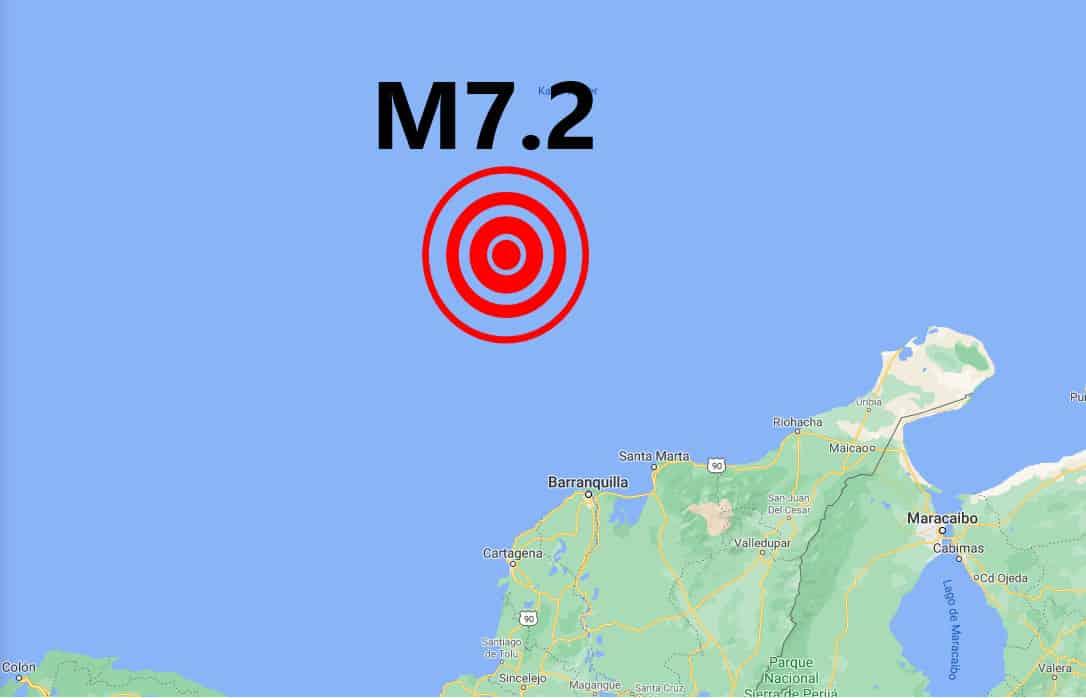 Nagy erejű, 7,2-es földrengés Kolumbiában! 2